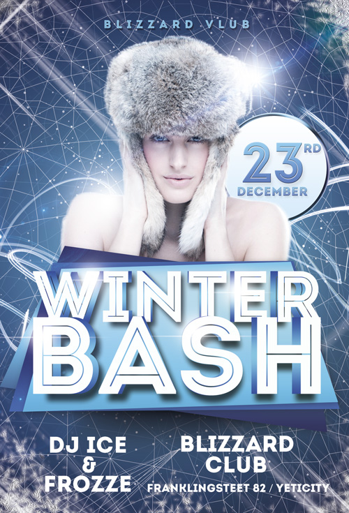 Download the Winter Bash Flyer Template for Photoshop
