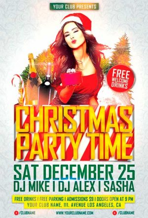Christmas Party Time Vol 2 Flyer Template