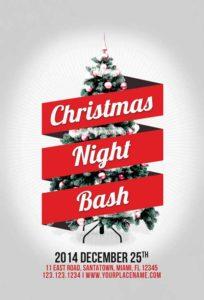 Minimal-Christmas-Night-Bash-Flyer-Awesomeflyer-com