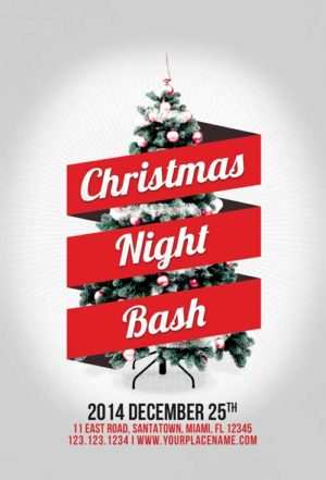Minimal Christmas Night Bash Flyer Template