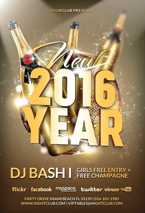 new year party flyer template awesomeflyer com