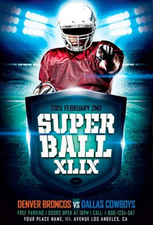 Super Ball Game XLIX Flyer Template