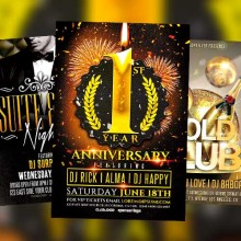 Anniversary Flyer Templates