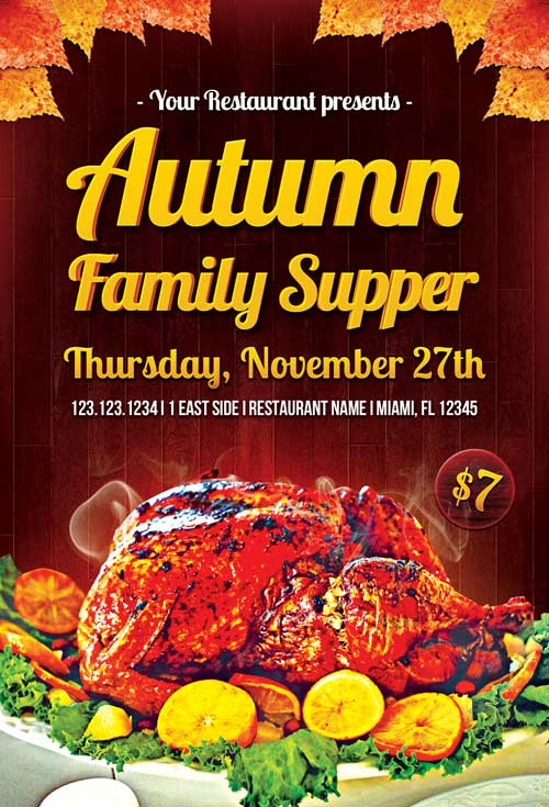 autumn-family-supper-flyer-template-500-awesomeflyer