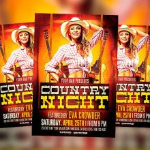 Country Flyer Templates