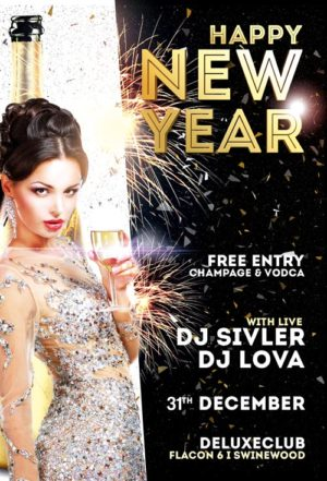 Download the Happy New Year Flyer Template for Photoshop