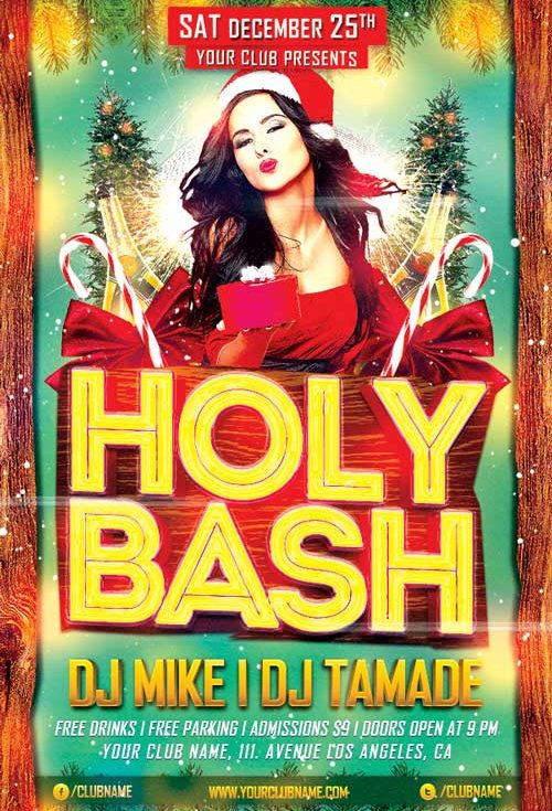 Holy Xmas Bash Flyer Template