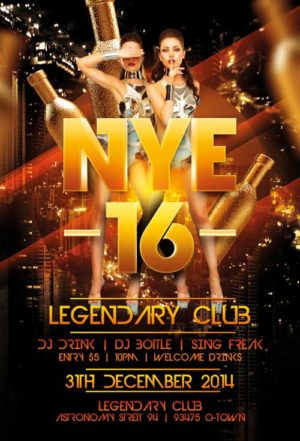 Legendary New Years Eve Flyer Template