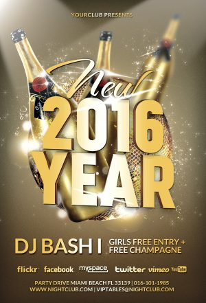 New Year Gold Vol 1 Flyer Template