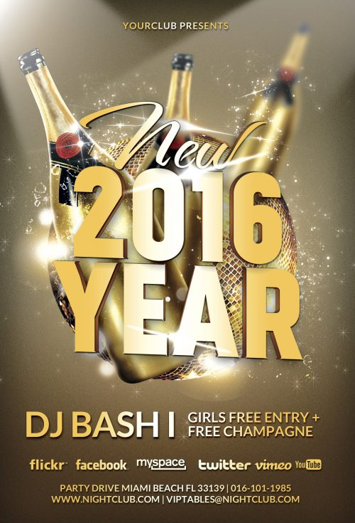 Download the New Year Gold Vol 1 Flyer Template for Photoshop