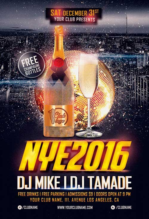 New Years Eve Flyer Template Vol.2