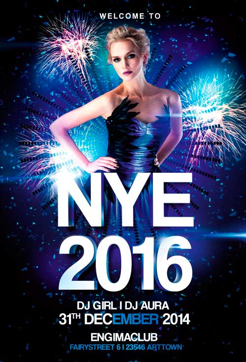 New Years Eve Party Vol  Flyer  AwesomeflyerCom