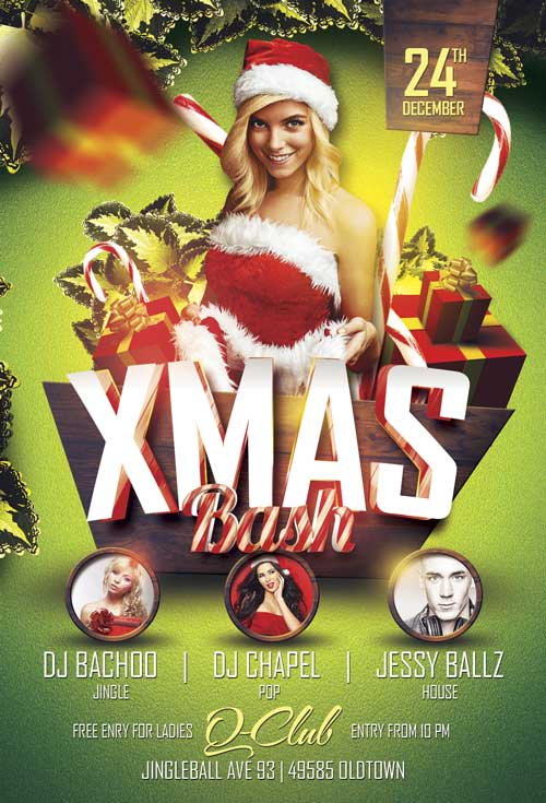 Xmas Bash Flyer Template Vol 1 For Photoshop Awesomeflyer