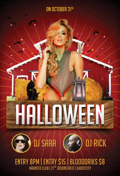 free halloween party flyers