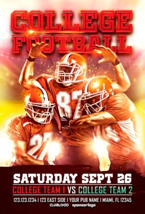 College Football Flyer Template Vol. 1