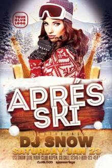 Apres Ski Flyer Template