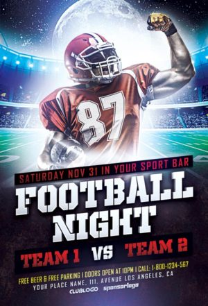 Football Mayhem Vol 2 Flyer Template - Download Sport Event Flyers