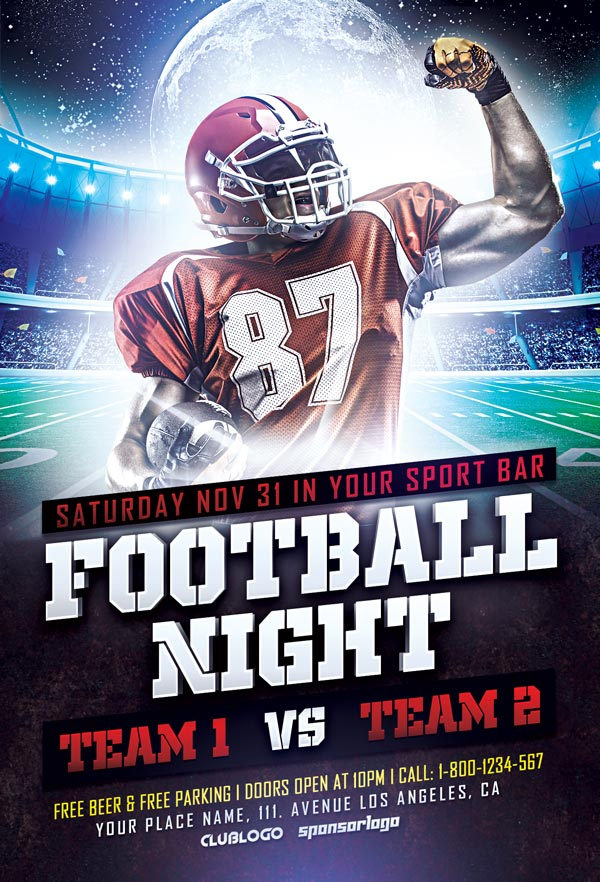 Download Free Football Sports Flyer Template | Awesomeflyer.com