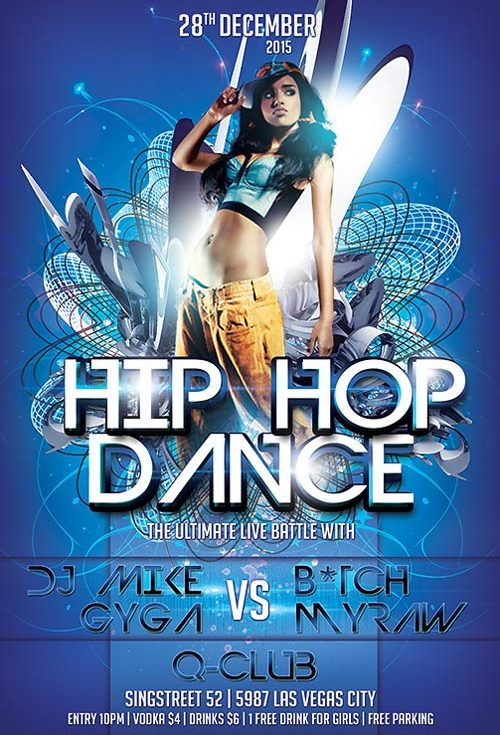 Free Hip Hop Dance Flyer Template