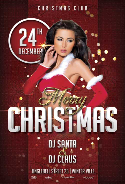 merry christmas party flyer template awesomeflyer preview
