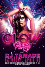 Glow Party and Club Flyer Template