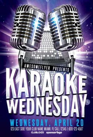 Karaoke Wednesday Party Flyer Template