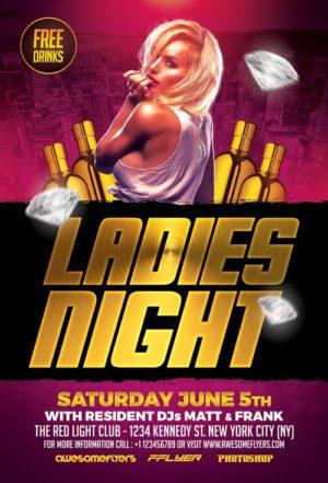 Ladies Night Flyer Template Vol.1