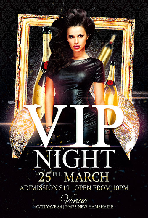 vip night club flyer template for photoshop awesomeflyer com