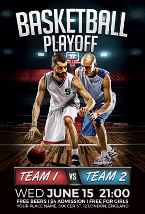 Basketball Playoff Flyer Template