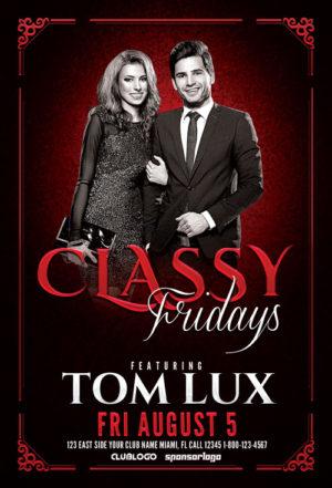 Classy Fridays Flyer Template