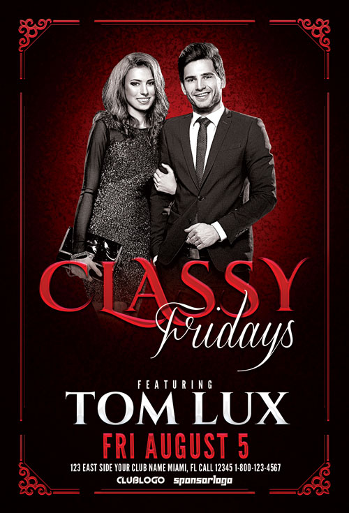 Classy Fridays Flyer Template