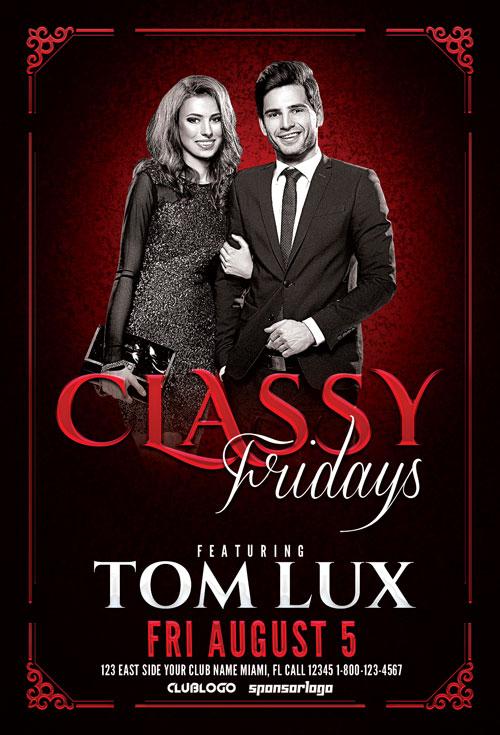 Classy-Fridays-Flyer-Template-Awesomeflyer-com