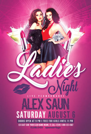 Ladies Night Flyer Template Vol.2