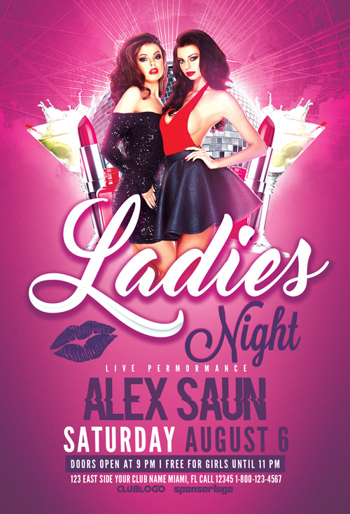 Ladies Night Flyer Template Vol 2 Download For Photoshop