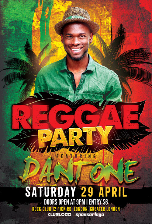 Raggae-Party-Flyer-Template-Awesomeflyer-com