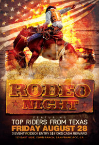 Rodeo-Night-Flyer-Template-Awesomeflyer-com