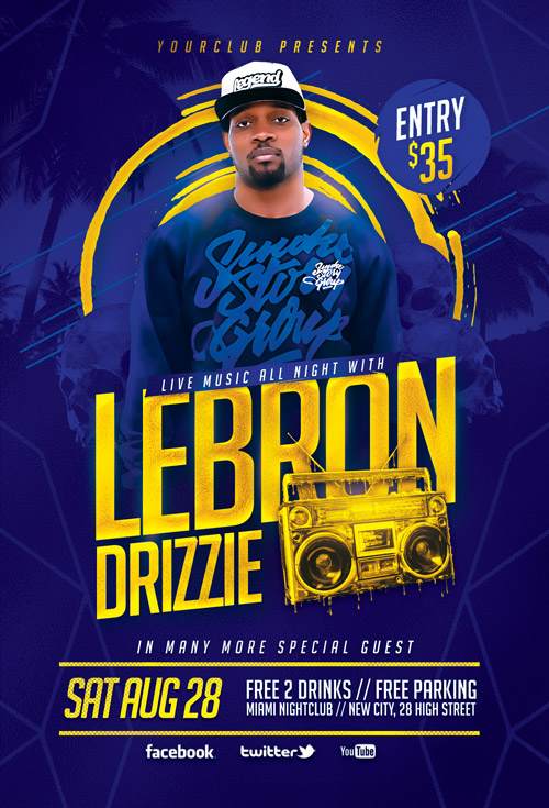 Artist Music Event Flyer Template Awesomeflyer Com