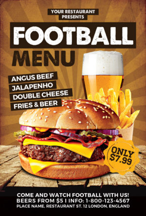 Burgers Food Promotion Menu Flyer Template