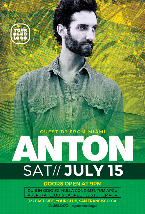 DJ Anton Party Flyer Template