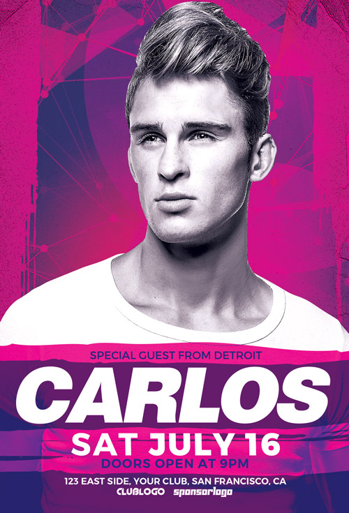 DJ Carlos Club Party Flyer Template