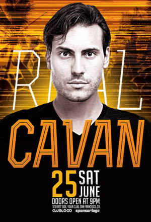 DJ Cavan Club Party Flyer Template