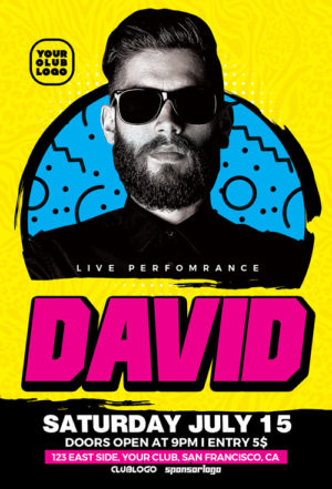 DJ David Club Party Flyer Template