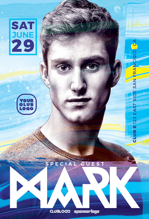 DJ Mark Club Party Flyer Template