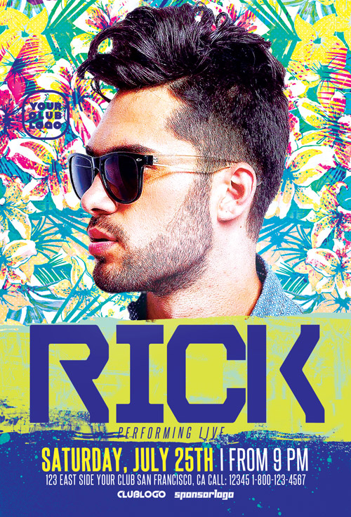 Download The Dj Rick Club Party Flyer Template | Awesomeflyer.Com