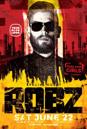 DJ Robz Club Party Flyer Template