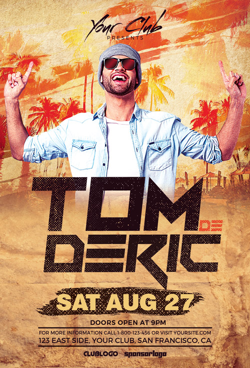 DJ Tom Party Flyer Template