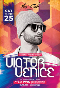 DJ-Victor-Club-Party-Flyer-Template-Awesomeflyer-com