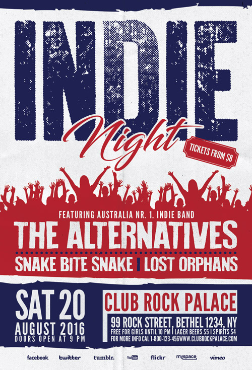 Download Indie Rock Alternative Party Flyer Template Awesomeflyer