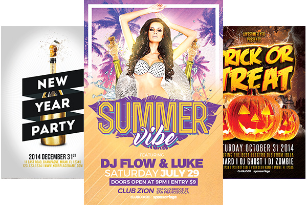 Party And Club Psd Flyer Templates For Photoshop Awesomeflyer