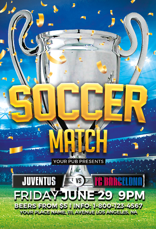 Soccer Tournament Flyer Template  Download Soccer Psd Flyer Templates